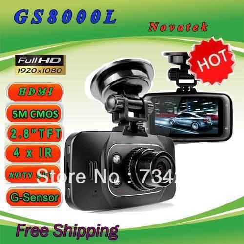 DSDV GS8000L HDMI HD 1080P Car DVR Vehicle Camera Video Recorder Dash Cam G-sensor Car recorder DVR(no HDMI cable) Free shipping(China (Mainland))