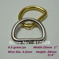 """25pcs 1"""" 25mm Silver Metal D Ring Heavy Duty"""