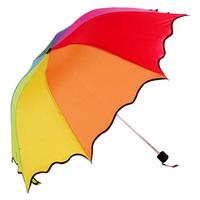 free shipping Folding princess umbrella 10 rainbow umbrella sun-shading anti-uv umbrella