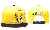 TWEETY Snapback cap Newest new style fashion cartoon pattern baseball caps men women sport hip hop hat!Free shipping!