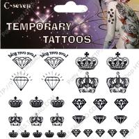 Tattoo stickers waterproof Women diamond  t006  temporary body art