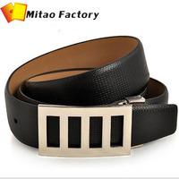 New Arrival Genuine Cow Leather Men Belt +Man Metal Buckle Belts 2 Colors+Cwoskin Waist  Belt Free Shipping(1PC)