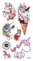 Temporary Tattoo stickers 36 w119 fashion 2013 HARAJUKU unicorn series tattoo waterproof  body art