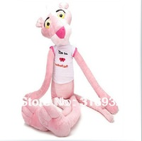 J1 Classic pink panther plush doll toys in shirt , 1pc, Christmas gift 50cm