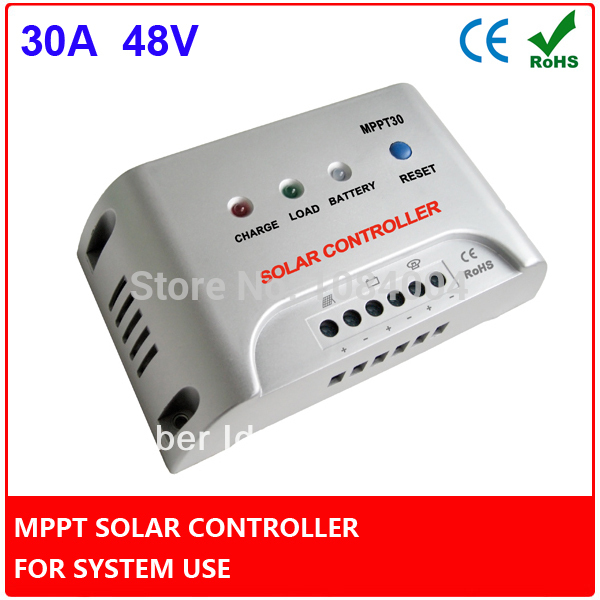 30A MPPT Solar Charge Controller, Solar Controller 48V for Increasing Module Efficiency 30% for Solar Power System Use(China (Mainland))