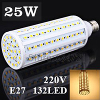 E27 25W SMD5050 132pcs LED Chips AC 220V 1960LM LED Corn Light Bulb Cold / warm White 7W 10W 15W 20W 30W Spot Light Bulb