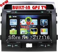 car double din dvd for LAND CRUSIER 2008-2012, built-in Analog TV BT,GPS,touch screen,menu slid,rear view function,parking break