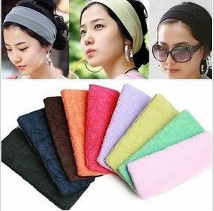 Ordem mínima é $10 cor dos doces faixas de cabelo faixa de cabelo bandanas headband do cabelo bandas esportes ioga jóias cabelo(China (Mainland))