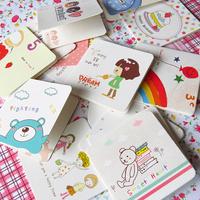 mix 48pcs/lot Greeting card 7*7cm cartoon birthday greeting card, message cards free shipping   wedding decoration