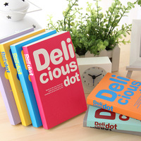 free shipping Korea stationery delicious dot thickening diary notebook the memo fresh