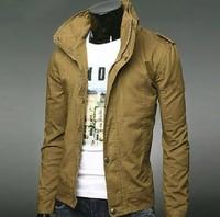 Men's clothing autumn 2013 thin male slim jacket male autumn plus size short design casual outerwear
