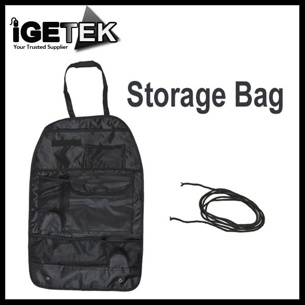 Hot Sale Car Auto Vehicle Seat Back Organizer Storage Bag Multi Pocket Holder Black Free Shipping Dropshipping Wholesale(China (Mainland))