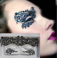 New arrival sparkling diamond cutout eye shadow stickers luxury royal masquerade halloween lk002