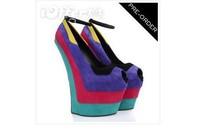 20cm heels wedge  gz high heels sandals for women 2014  women's pumps peep-toe high heels sandals ladies shoes party heels