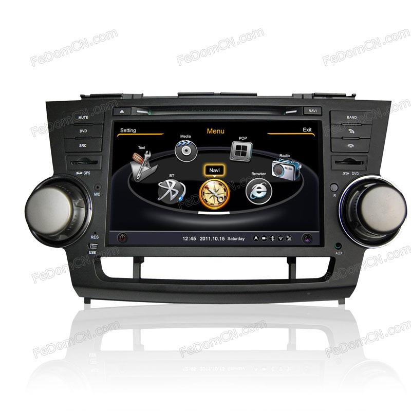 car audio 2 din mp3 player For Toyota Highlander radio(China (Mainland))