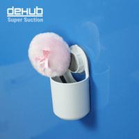 Free shipping vacuum suction cup bathroom rack organizer Korea DEHUB Storage compartment wall suction tube creative barrel