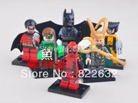 Decool Building Block Toy Minifigures Super Heroes Batman Green Lantern Robin Loki Wolverine Educational Bricks Toys for Boys
