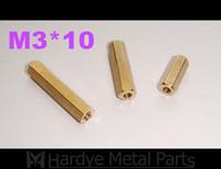 3*10 M3*10 female-female Brass standoffs hex pillar hex spacer M3 PCB 500pcs/lot Free shipping