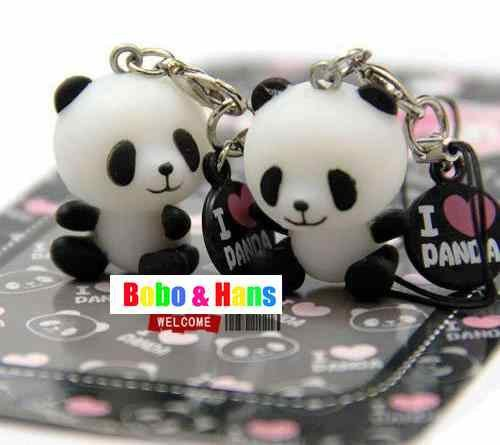 New 2 pcs/pack Cute love panda mobile phone charm / strap / / Pendant / Wholesale(China (Mainland))
