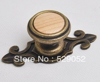 10pcs lot free shipping American wooden drawer cabinet wardrobe pull knob