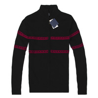 2014 Brand Polo Men's Zip Cardigan Fashion Long Sleeve Stripe Thick Sweater 3 Color Free Shipping