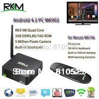 Rikomagic XBMC RKM MK902 Quad Core Android4.4 RK3188 2G DDR3 16G ROM Bluetooth Build in Camera & Microphone [MK902/16G+MK706]