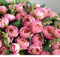 2014 New 3 Bouquet/lot  Double Colors Silk Roses Wedding Bouquet Artificial Flowers