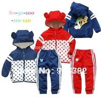 New arrive Retail wholesale children sport suit chidlren brand 2 pcs set cotton wear hoodies+pants children clothing set