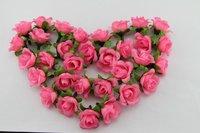 100 PCS Pink  Silk flowers head roses wedding decoration