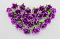 100 PCS Deep Purple Silk flowers head roses wedding decoration