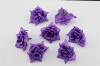 50PCS Traffic purple  Silk flowers head roses wedding decoration