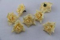 50PCS Golden  Silk flowers head roses wedding decoration