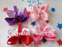 Free shipping 20pcs/lot 22mm ribbon  korean style little hair clips