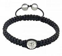 free shipping fashion shamballa bracelets wax cord with rhinestone,charming disco ball bead jewelry crystal jewel