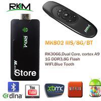RKM MK802 IIIS Mini Android 4.2 PC Dongle RK3066 Cortex A9 1GB RAM 8G ROM & Bluetooth& wireless keyboard[MK802IIIS/8G/BT+MK706]