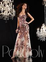 2014 New Style Elegant Off The Shoulder Sleeveless Off The Shoulder Sleeveless Beaded Tulle Formal Long Prom Evening Dresses