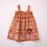2014 spring New items Children Girl's Cute dora little dress dress baby wear high quality free shipping