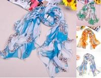 Wholesale korean style fashion women's chiffon scarf shawl,New spring and summer silk wraps for women Free shipping FX-011