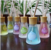 Reed Diffuser Round Cone Shape Glass Cane No fire aromatherapy Suits Pure and fresh air aromatic deodorant 6 smell