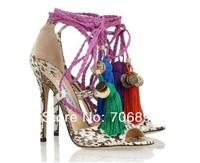 Olivia Dream Ankle Rop Tie Elaphe Sandals 2013 platform python pumps women dress shoe