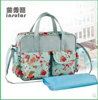 Free shipping Hot Wholesale baby Diaper bag Nappy bag multifunctional large capacity  fashion maternity women's messenger bag