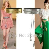 3pcs Wholesale Fashion Wide Cummerbunds PU Belts for Women Long Strap Tassels Cintos Femininos Vintage Cinturon Lady Ceinture