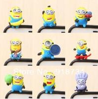 3D Cute Despicable Me Minions Dust Plug , 10pcs/lot Despicable Me Minions Earphone Dust Plugs For iPhone iPad iPod