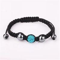 Dark blue color shamballa bracelet fashion clay crystal jewelry free shipping charming disco ball bead rhinestone jewel