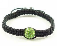 Green jewelry fashion shamballa bracelet clay crystal jewel charm disco ball bead gem rhinestone bijou