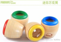 Wholesale - Wooden toys for children magical kaleidoscope prism baby bee-eye effect observed outside world 4pcs/lot