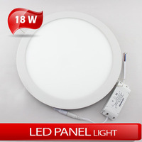 18W Circular panellight 2835SMD warm white/cold white AC85~265V LED ultrathin embedded downlight