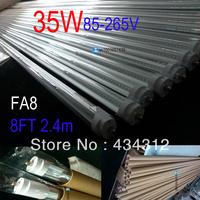 25PCS T8 led tube 2400mm /2.4m 35W led fluorescent tube F8AS led single pin tube lamp 8ft led light bulb free shiping 8FT T8