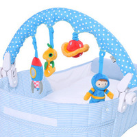 2015 Baby Toy 4 Cute cotton stuffed Plush Toys flexibility & multifunction for baby stroller hanging clip free Shipping