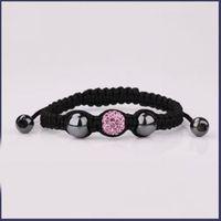 Aubergine charming shamballa bracelet fashion clay crystal jewelry disco ball bead crystal rhinestone bijou handmade jewelry